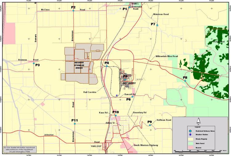 Alcoa wagerup refinery map